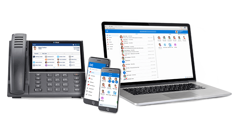 Interface outil collaboration Mitel