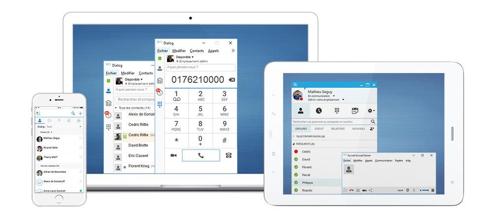 Softphone interface