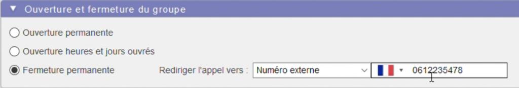 Numéro de téléphone de redirection des appels